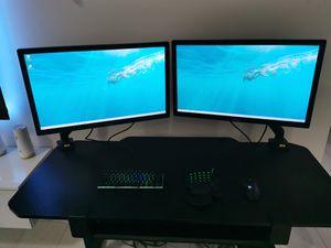 Monitor x2 asus 27 display port HDMI and VGA for Sale in Miami Beach, FL