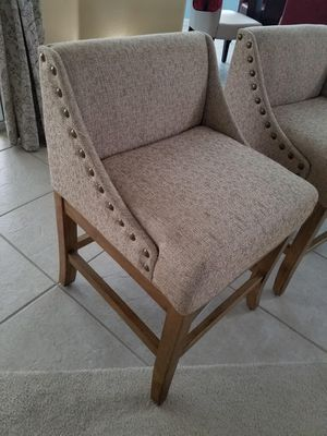 Fabric dinning chairs Natural color for Sale in Clermont, FL