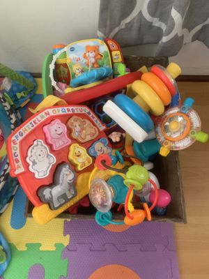 Fisher Price Infantino Baby and Toddler Basket of Toys Lot Set for Sale in Riverside, CA