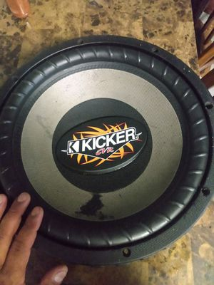 Kicker cvr old school 12 inch DVC subwoofer. 60.00 pick up merced for Sale in Merced, CA