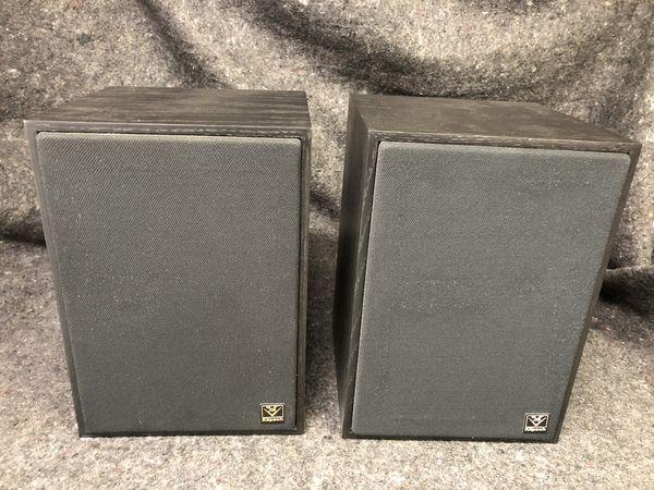 Klipsch KG 1.2 audiophile stereo speakers.