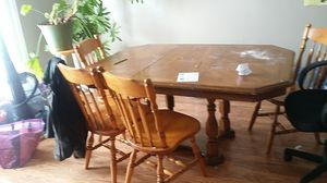 Kitchen table 4 chairs with leaf for Sale in Riverton, UT