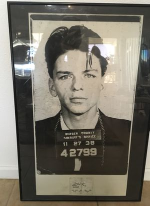 Frank Sinatra New Jersey Police Booking Picture for Sale in Fort McDowell, AZ