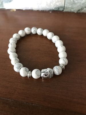 New Natural Stone Buddha Charm Stretch Bracelet (Nuevo). for Sale in Palmdale, CA