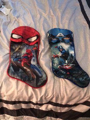Spider-Man & captain America stockings for Sale in Nashville, TN