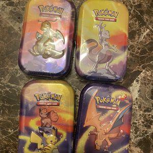 Pokémon Kanto Power Mini Tins (4) for Sale in Sacramento, CA