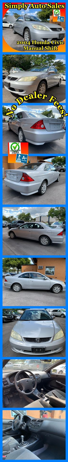 2004 Honda Civic Coupe for Sale in Palm Beach Gardens, FL