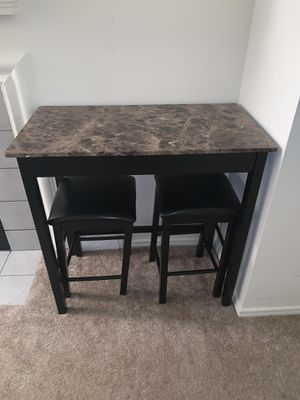 Tall table and two bar stools for Sale in Fairfax, VA