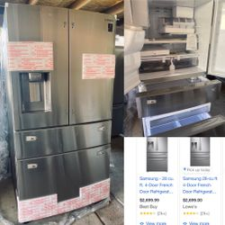 NEW SAMSUNG 28cu Ft FOUR DOOR STAINLESS STEEL REFRIGERATOR for Sale in Lake Elsinore,  CA