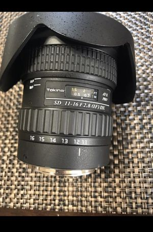 Tokina 11-16 AT-X Pro F 2.8 Canon Mount for Sale in Riverside, CA