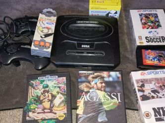 Sega Genesis 2 Controllers And 5 Games for Sale in West Valley City,  UT
