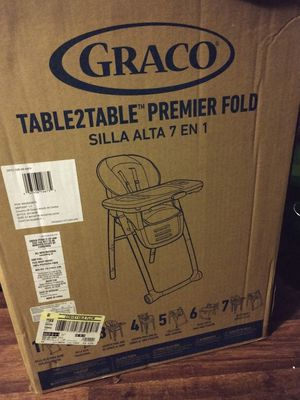 Graco table to table premier fold 7 in 1 high chair for Sale in Gilbert, SC
