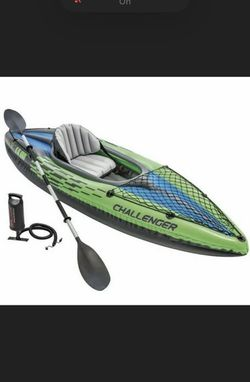 Intex Challenger K1 Kayak. Comes with Oar and Hand Pump (inflatable & portable!) for Sale in Gainesville,  VA