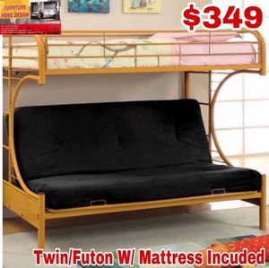 Twin/Futon with mattress included included for Sale in Visalia, CA