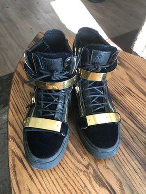 Giuseppe zanotti blue suede and leather sneaker for Sale in Atlanta, GA