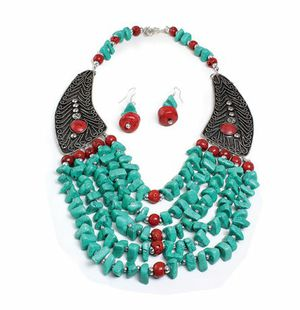 Beaded Turquoise Winged Necklace Set for Sale in Sterling, VA