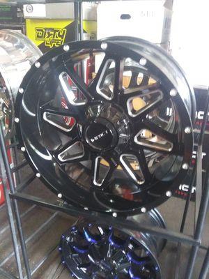 20X10 impact rims 33X12.50R20 mt 5 lug universal for Sale in Phoenix, AZ