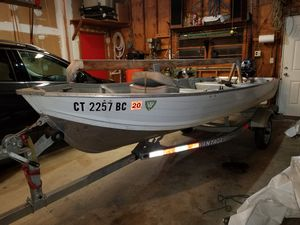 14' Sylvan Aluminium Boat, Motor and Trailer for Sale in Newtown, CT