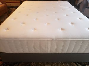 "Queen 12"" Mattress set box spring bed frame for Sale in Lynnwood, WA"
