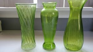 Green flower vase for Sale in Valencia, PA