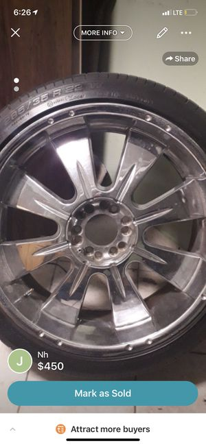 "22"" Chrome rims for trucks for Sale in Queens, NY"