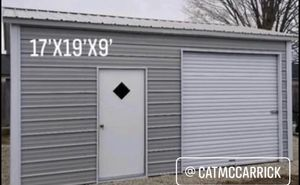 New 18' x 20' x 9' Steel Garage with 8' x 8' Rollup Door for Sale in Plympton, MA