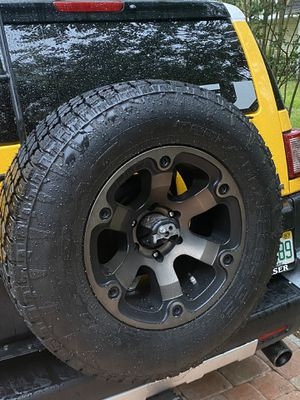 Toyota Wheels 285 70 17 Fuel brand and Nito Grap2 tires for Sale in Bartow, FL