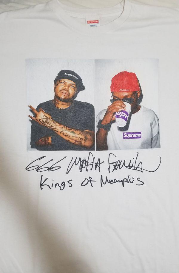 Supreme three six mafia kings of memphis shirt /size XL