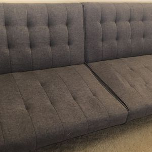Gray Linen Futon Sofa for Sale in Seattle, WA