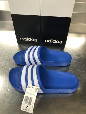 ADIDAS BLUE SANDALS SIZES-4/5/6 YOUTHS for Sale in Savage, MD