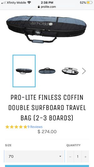 Surfboard coffin bag for Sale in Everett, WA