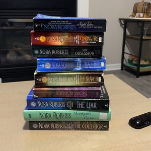 Nora Roberts books (10) for Sale in Raleigh, NC