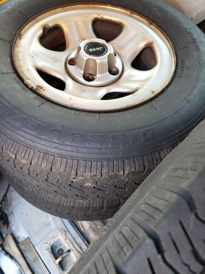 225 75 15 Jeep Wrangler Jeep Cherokee Wheels and Tires for Sale in Puyallup, WA