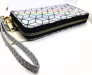 Metallic Shimmer Hologram Design Clutch Silver for Sale in Phoenix, AZ