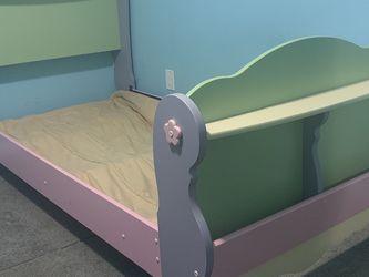 Ashley Furniture Doll House Twin Sleigh Bed + Dresser w/ Mirror for Sale in Abingdon,  MD