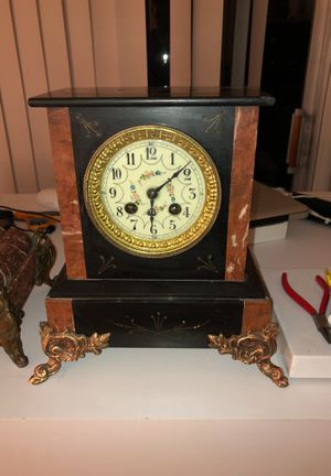 Antique French Slate Clock for Sale in West Los Angeles, CA