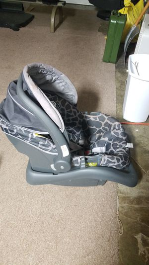 Cosco Grey and White Rear Facing Infant Car Seat for Sale in Staunton, VA