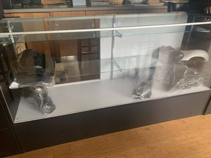 2 glass display cases with shelving 6ft. for Sale in Kirkland, WA