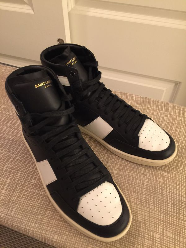 Saint Laurent, Leather Hi-Top Sneakers