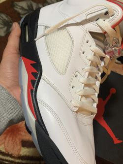 Jordan Retro Fire red 5s Silver tongue for Sale in Oxon Hill,  MD