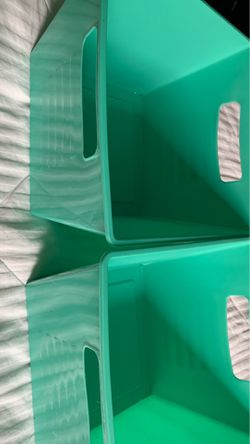 Two mint green plastic containers for Sale in McKeesport,  PA