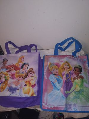 2 kids disney tote bags kids shopping bag for Sale in Southfield, MI