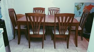 Used table with 6 pc chairs for Sale in Los Angeles, CA