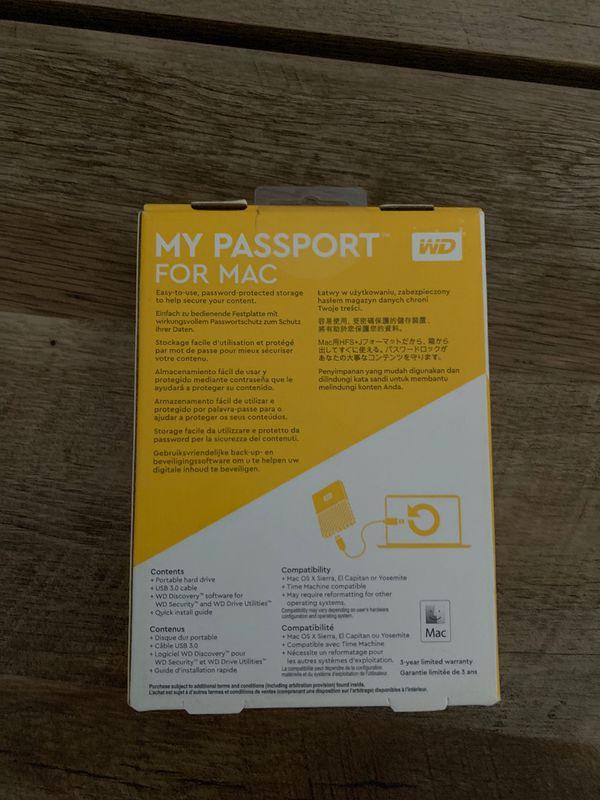 WD My Passport for Mac - 1 TB - unopened