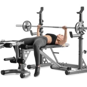 Brand New!! Weider XRS 20 Olympic Bench & Squad Rack for Sale in Lithia, FL