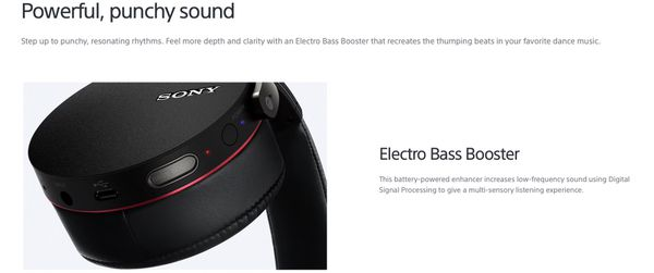 SONY MDR-XB950BT EXTRA BASS™ Wireless Headphones with travel case