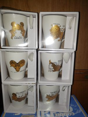 13 Ounce Coffee Mug/tea With Spoon And Golden Horoscope/zodiac Sign for Sale in South Gate, CA