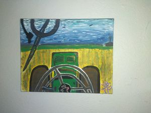 John Deere acrylic on canvas for Sale in Amarillo, TX