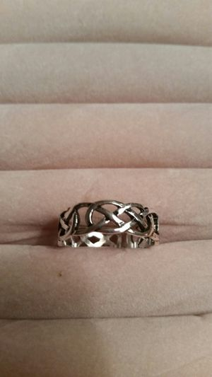 Sterling silver link cutout ring for Sale in Powhatan, VA