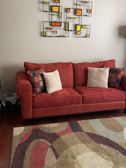 Sleeper Sofa Red Micro suede 7' for Sale in Scottsdale,  AZ